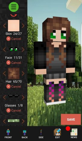 Custom Skin Creator Minecraft Download APK For Android Aptoide - Skins para minecraft 1 8 8