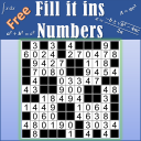 Fill ins Numbers puzzles - Numerix fill in puzzles
