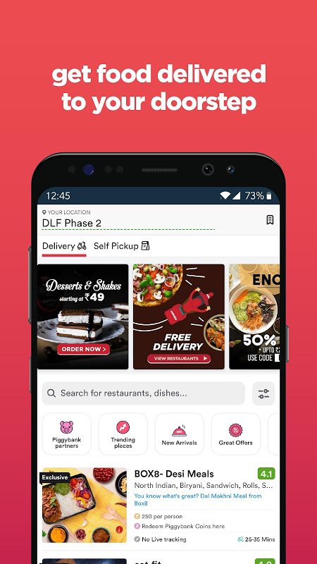 Zomato - Restaurant Finder and Food Delivery App screenshot 1
