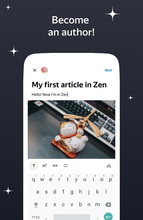 Zen: personalized stories feed screenshot 1
