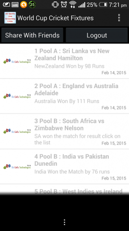 Live Cricket Streaming Links 1 1 Download APK for Android