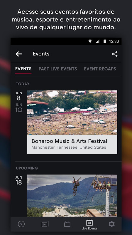 Red Bull TV: Desporto, música eespetáculo ao vivo screenshot 2