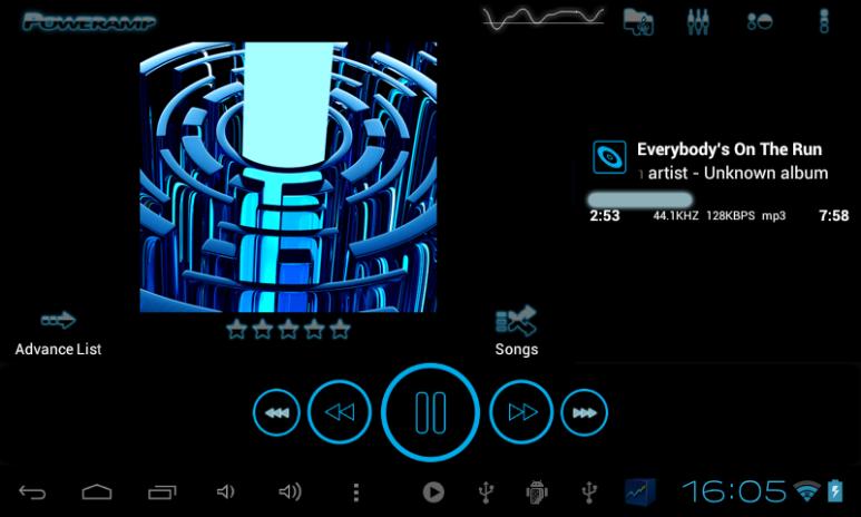 Poweramp skin TRON BLUE 3 02 Download APK for Android - Aptoide