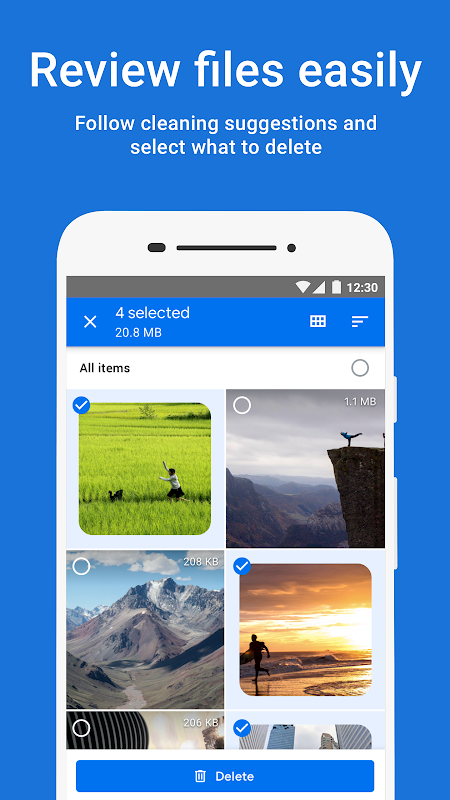 Files by Google: Clean up space on your phone screenshot 1