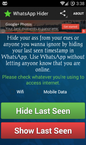 Last Seen Hider for Whatsapp 1 0 Download APK for Android