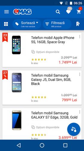 opțiuni mobile