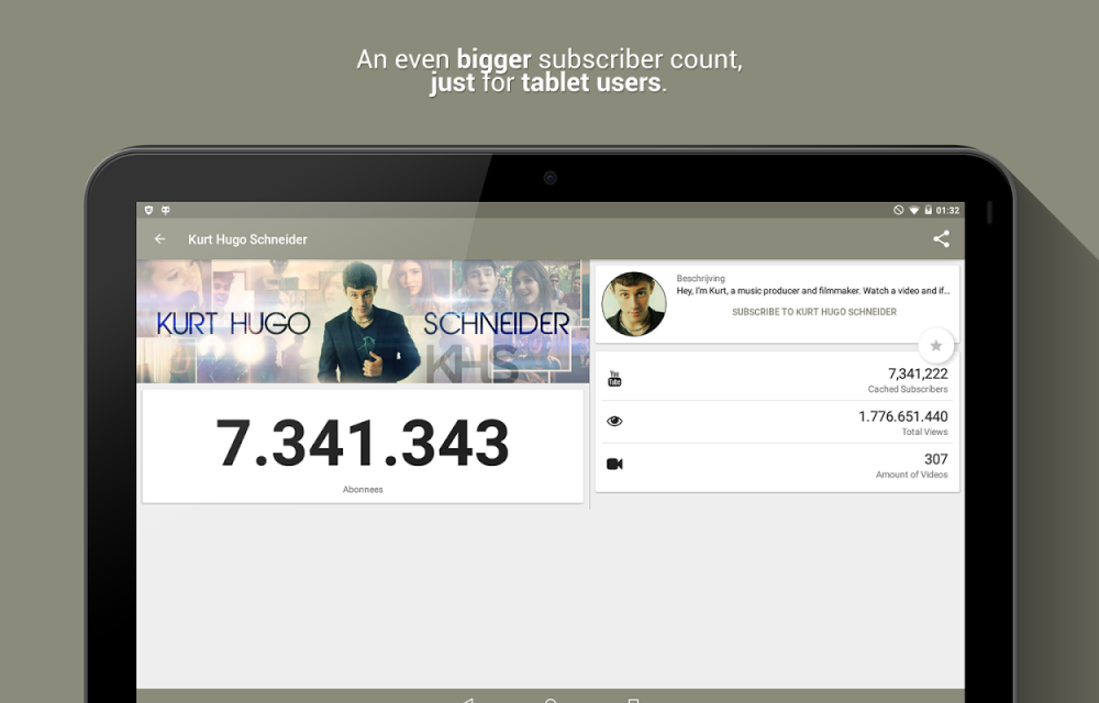 Real Time Subscriber Count