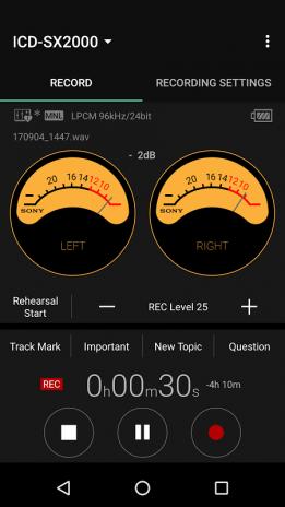REC Remote | Sony IC Recorder Companion 3 0 0 Download APK