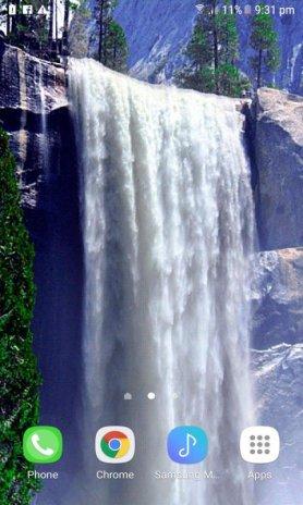 ... winter waterfall live wallpaper screenshot 3