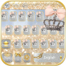 silver gold keyboard theme icon