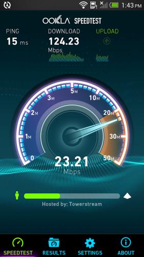 Speedtest.net screenshot 1