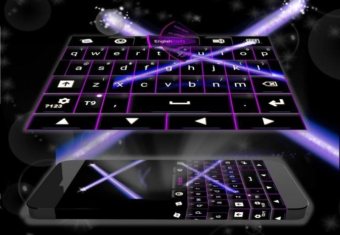 Purple Laser  GO Keyboard Theme 4 172 106 80 Download APK