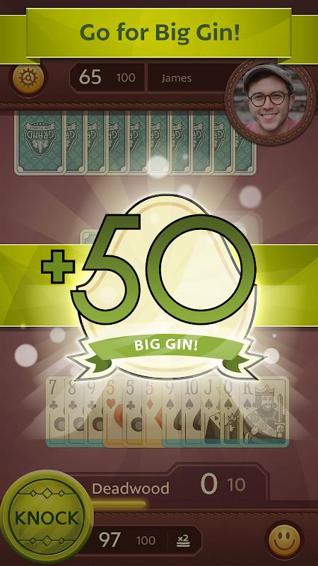 Grand Gin Rummy 2: Clássico jogo de cartas screenshot 2