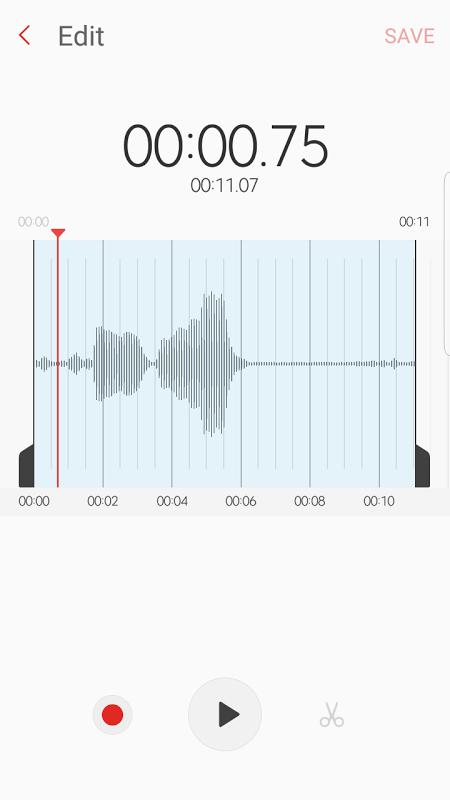 Samsung Voice Recorder screenshot 2