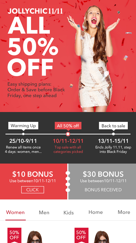 Jollychic - Online Shopping mall screenshot 1