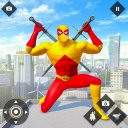 Flying Police Robot Rope hero Spider Rescue Games
