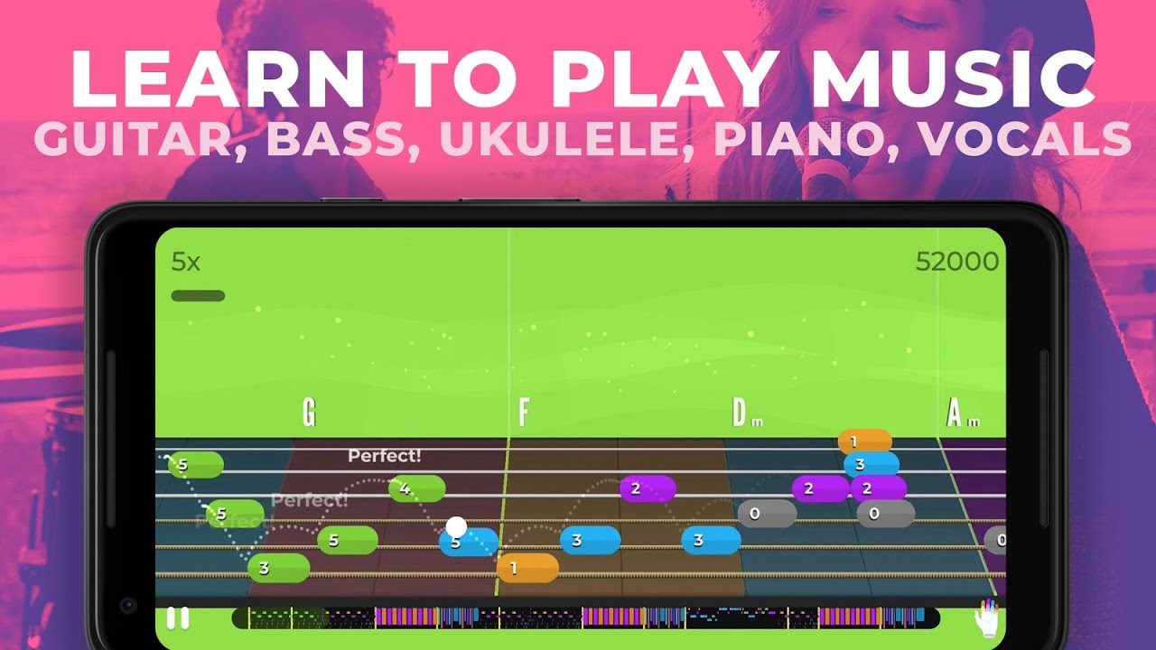 Yousician -  Learn Guitar, Piano, Bass & Ukulele screenshot 1