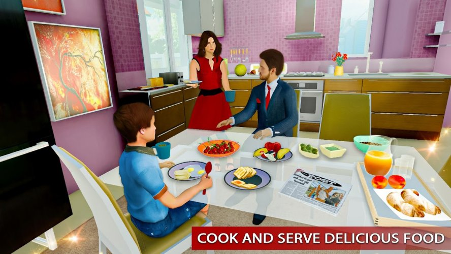 Amazing Family Game Virtual Mother Simulator screenshot 5