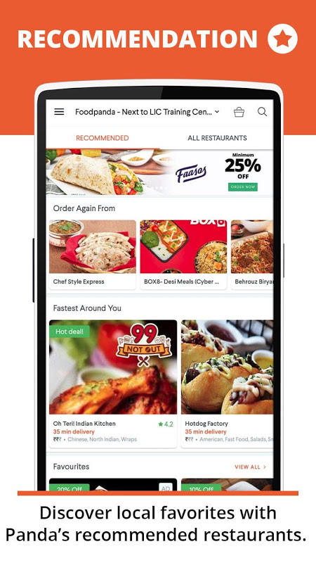 foodpanda: Fastest food delivery, amazing offers screenshot 2