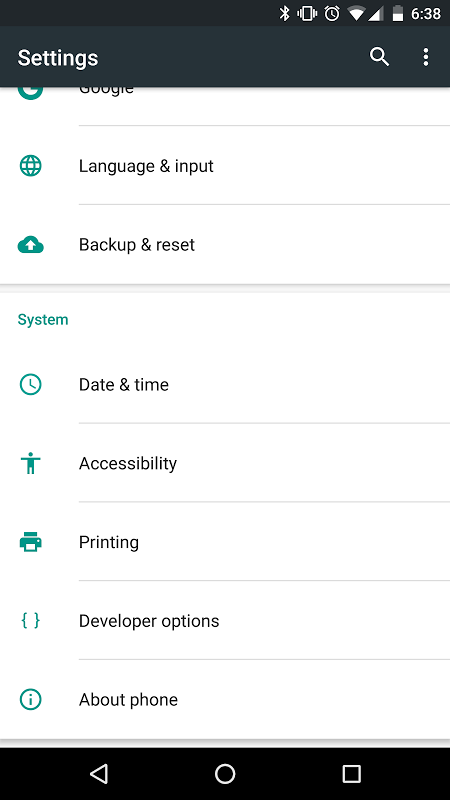 Conj. acessibilidade Android screenshot 1