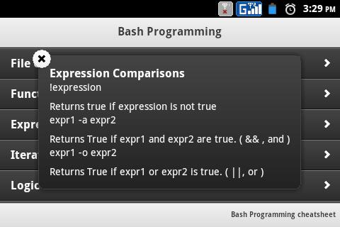 Bash Programming cheatsheet 1 10 Download APK for Android - Aptoide