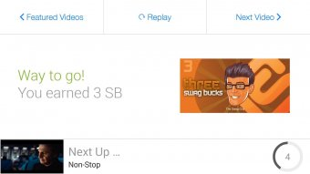 SwagBucks TV Mobile Screenshot