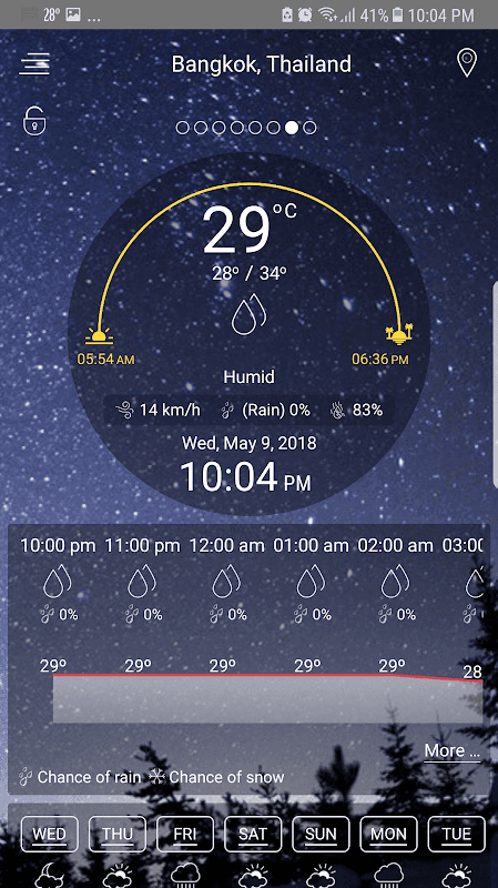 Weather - unlimited & realtime weather forecast screenshot 1