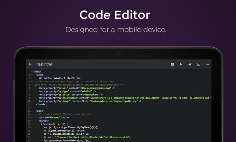 Codeanywhere - IDE, Code Editor, SSH, FTP, HTML6 1 9 tải APK