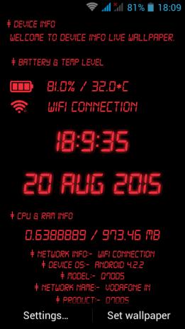 Device Info Live Wallpaper 5000 Télécharger Lapk Pour Android