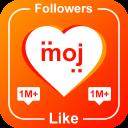 Likes and Followers for Moj Short Video(Hashtag)