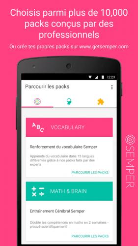 Semper: Apprendre sans effort screenshot 3