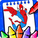 spider super heroes coloring game of woman
