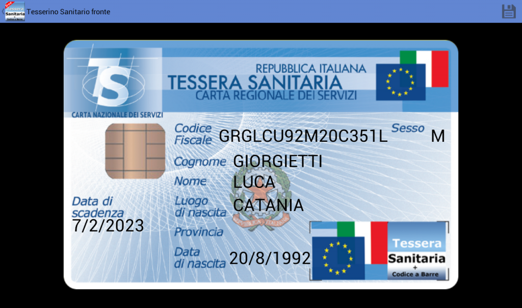 Tessera Sanitaria Italiana | Download APK for Android
