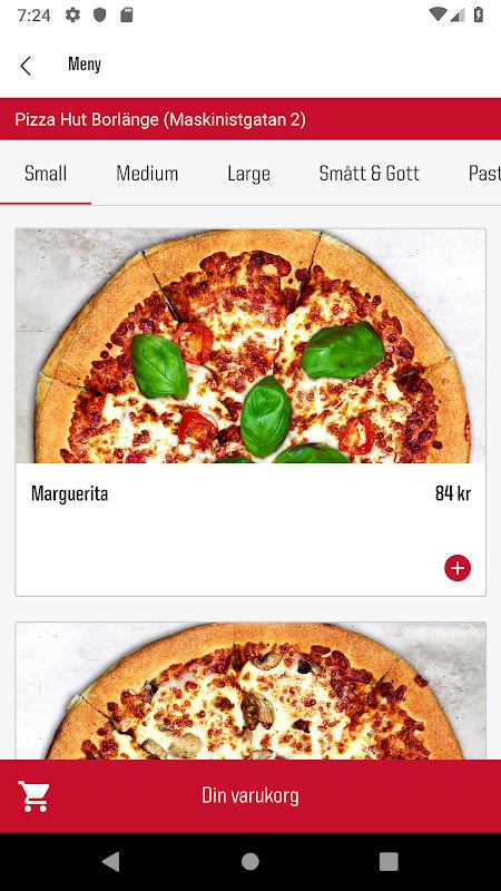pizza hut hemkörning