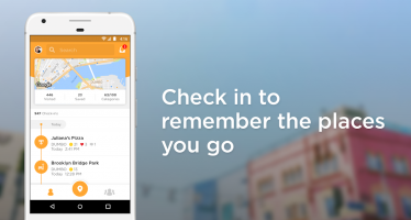 Foursquare Swarm: Check In Screen