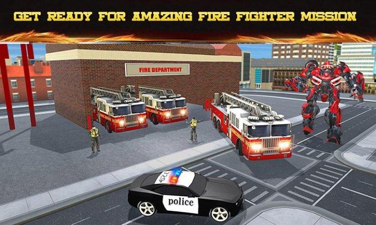 Fire Truck Real Robot Transform: Firefighter Games 2 1