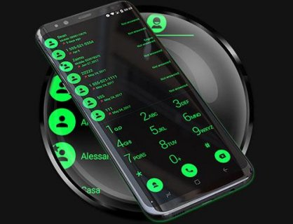 Theme for RocketDial and ExDialer Flat BGreen screenshot 6