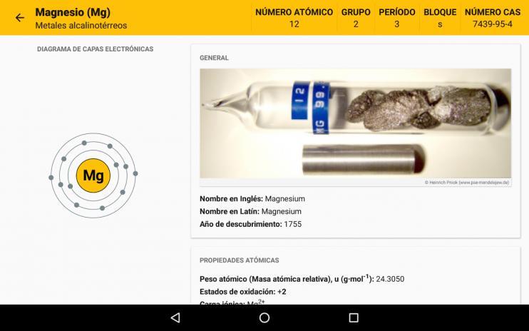 Tabla peridica 630 descargar apk para android aptoide tabla periodica captura de pantalla 18 urtaz Image collections