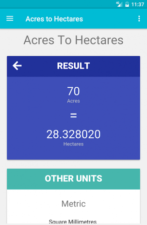 Acres To Hectares Screenshot 1 2