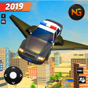 Flying Police Car Driving: Real Police Car Racing