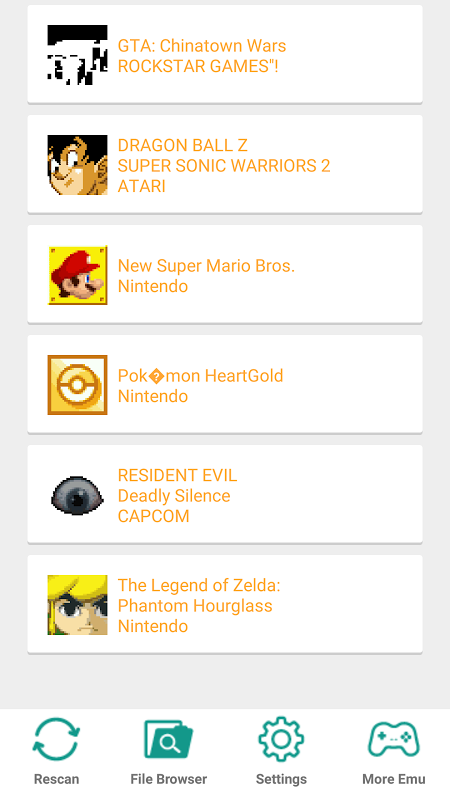 NDS emulator for Android screenshot 1