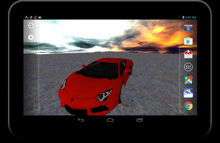 3d Lamborghini Live Wallpaper Screenshot 4