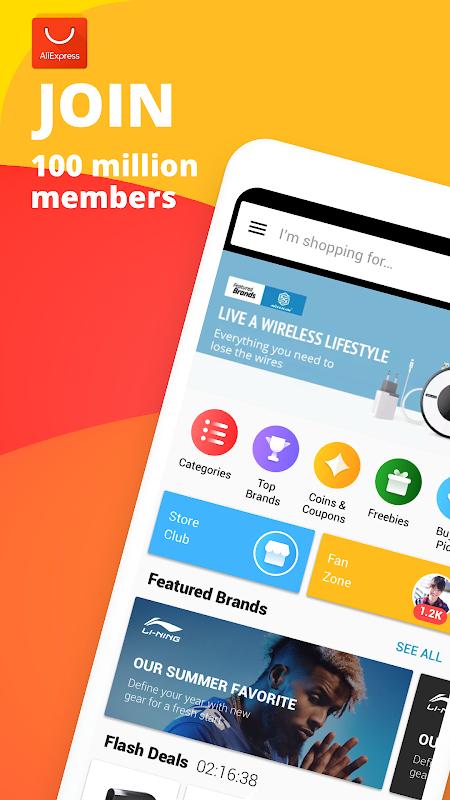 AliExpress Shopping App- $100 Coupons For New User screenshot 1
