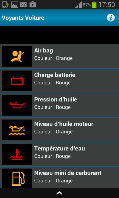 Tous Les Voyants Voiture 2 4 Telecharger Apk Android Aptoide
