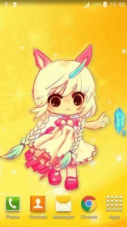 Anime Chibi Live Wallpaper Screenshot 7
