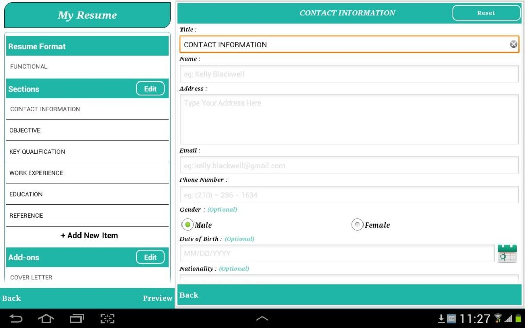 Smart Resume Builder / CV Free | Download APK for Android ...