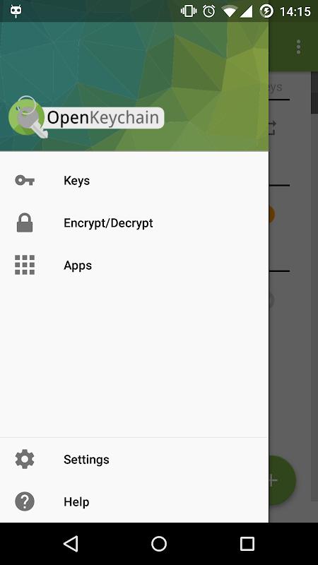 OpenKeychain: Easy PGP screenshot 1