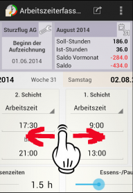 Arbeitszeiterfassung screenshot 4