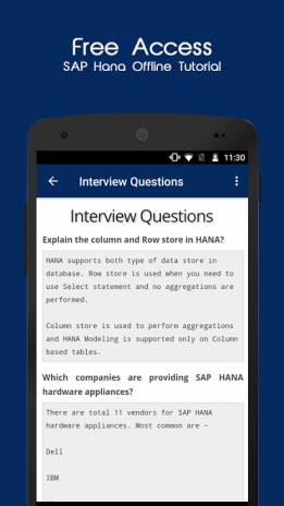 SAP HANA Offline Tutorial 1 4 Download APK for Android - Aptoide