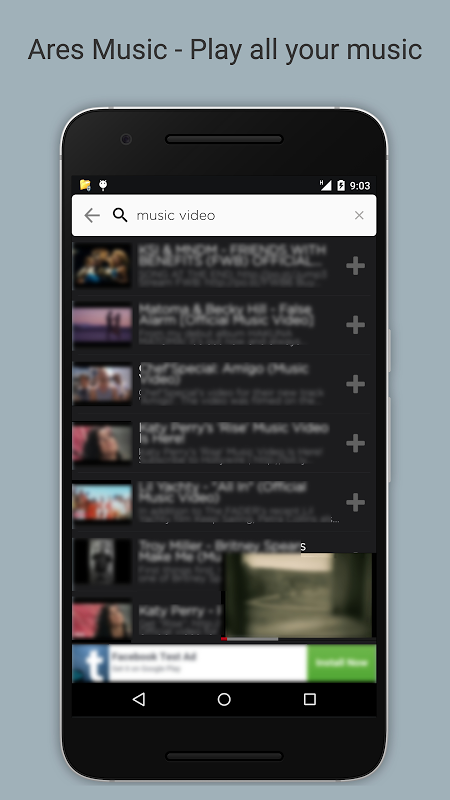 Ares Music Player screenshot 1